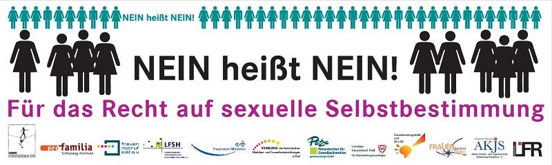 Nein heißt Nein! Banner Schleswig-Holstein