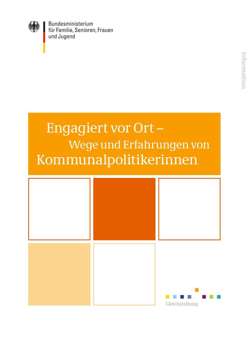 Broschüre Engagiert vor Ort - Wege und Erfahrungen von Kommunalpolitikerinnen