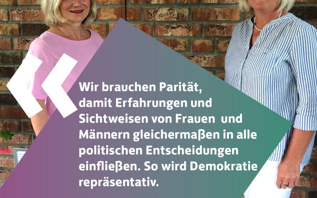 """Bundesweite Fotokampagne von den größten deutschen Frauenverbänden """"Wir brauchen Parität"""""""